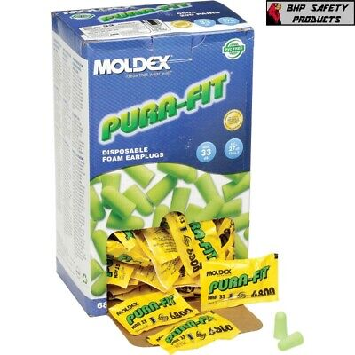 MOLDEX 6800 Pura-Fit® Uncorded Ear Plugs PK 200 Tapered Shape 33dB Rated