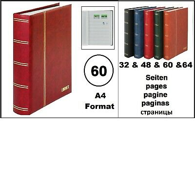 Stamp Album Album Padded Red 60 White Pages Lindner 1162S-R