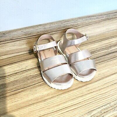 Baby Girls River Island Metallic Pink Strappy Summer Sandles