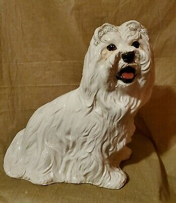 Townsend's Ceramic's Maltese Dog