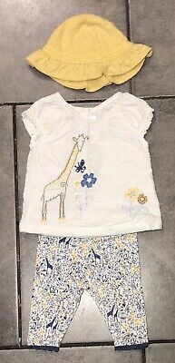 Next Baby Girls Outfit 0-3 M (up to 4.5kg/10lbs) Giraffe VGC