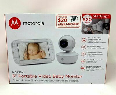 Motorola MBP36XL Portable Video Baby Monitor, 5-Inch Color Screen Portable