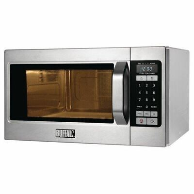 Buffalo Programmable Commercial Microwave Oven - Easy to Clean 1.1kW - 26L