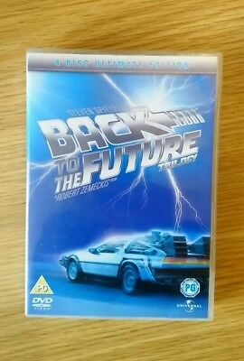 BACK TO THE FUTURE TRILOGY DVD 4 DISC ULTIMATE EDITION Steven Spielberg. VGC