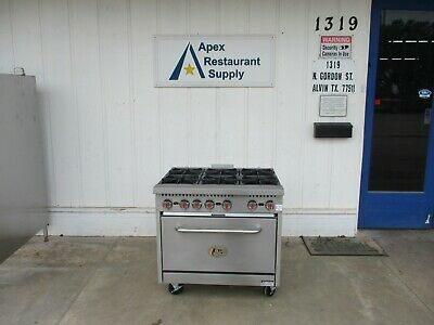 """New CPG S36-N Natural Gas 6 Burner 36"""" Range with Standard Oven #4713"""