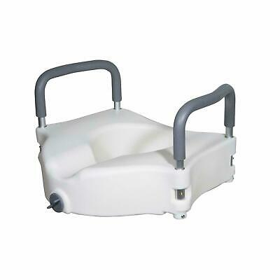 Drive Healthcare RTL12027RA Elevated Raised Toilet Seat Removable Padded Arms
