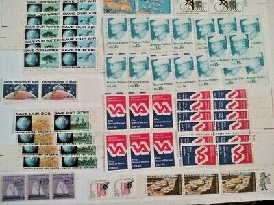 Lot of 148 Vintage US Mint Stamps MNH Unused High Face/Book Value Collection #9