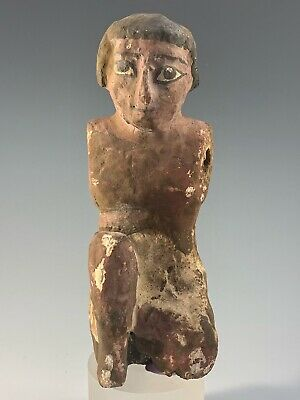 ANCIENT EGYPTIAN WOODEN FIGURE; 2010-1793 B.C. 11th-12thTH DYNASTY, NICE PIECE!