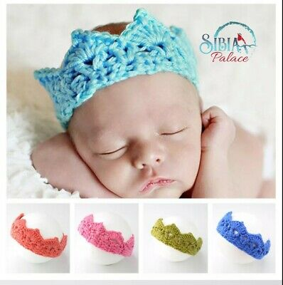 Pink 100% Handmade Baby Flower Headband Newborn Photoshoot Floral Hairband