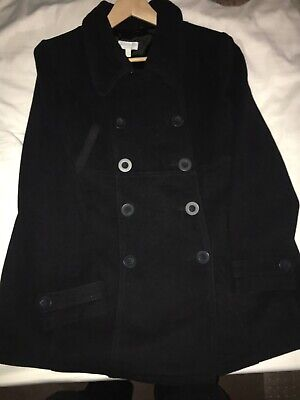 Womens Jo-Jo Maman Bebe Black Wool Blend Coat Size 12