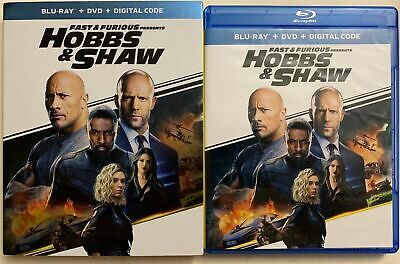 Fast & Furious Presents Hobbs & Shaw Blu Ray Dvd 2 Disc Set + Slipcover Free Shi