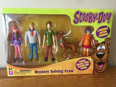 Scooby Doo Figures set of 5 Mystery Solving Crew Action Pack Playset Toy New 3+