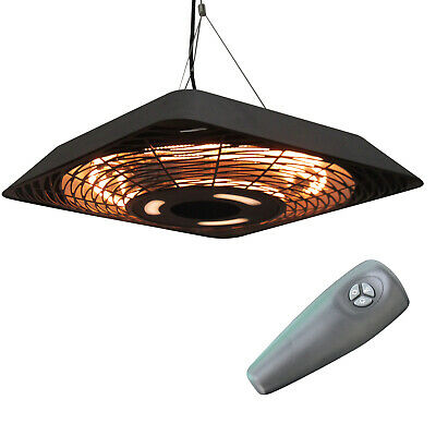 Outsunny 2000W Patio Electric Hanging Ceiling Heater Halogen Remote Aluminium