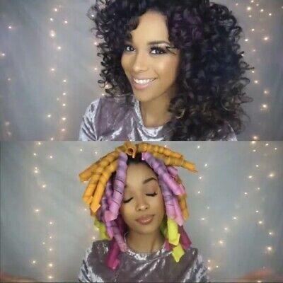 """Curlformers 49 Spiral Rollers for Up to 22"""" Hair With Two Hooks Mixed Sizes"""