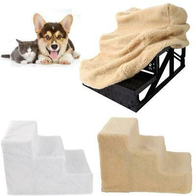 Pet Stairs 3 Step Dog Ladder Ramp Steps Stair White/Beige For Cat Small Animals