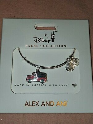 Disney Parks Alex and Ani Christmas 2019 Mickey Red Truck Bracelet Silver