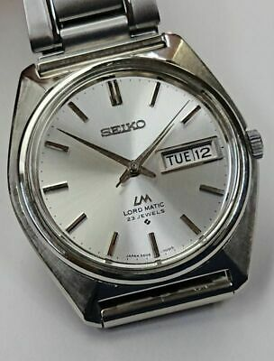 SEIKO LORD MATIC One Piece Case Cal. 5606A Auto Vintage Watch 1968's Overhauled