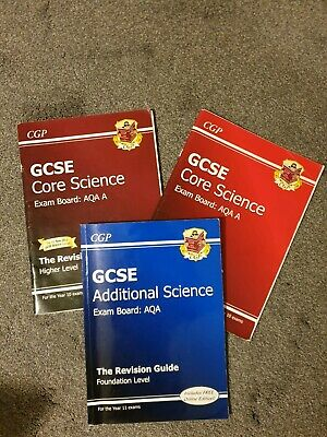 Job Lot Gcse Core Science Revision Books Aqa Foundation, Higher And Additional