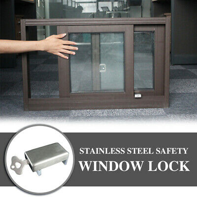 1 Set Window Child Safety Lock Sliding Window Lock Security Sliding Sash Stopper