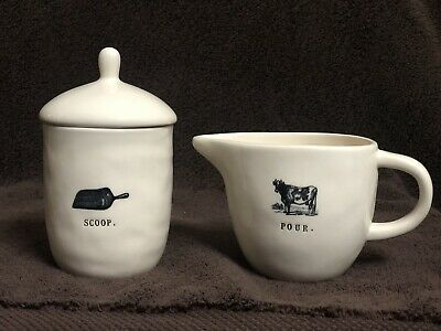 New Rae Dunn Pour & Scoop Cow Creamer & Sugar Set First Release