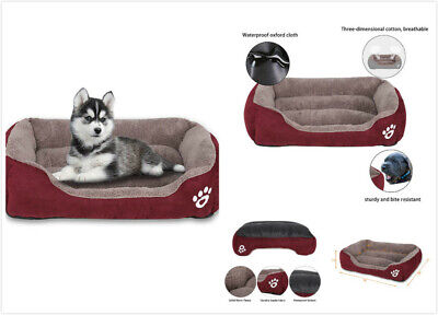 Soft Dog Beds Pet Cushion House Waterproof Warm Kennel Blanket Small Large Size
