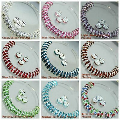 100Pcs Hot Wholesale 8mm Multicolor Round Crystal Glass Loose Spacer Beads Gift
