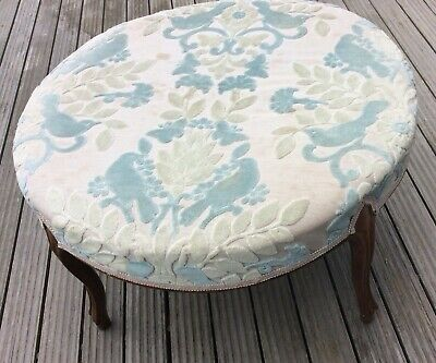 Large low level circular antique footstool could be used as a table