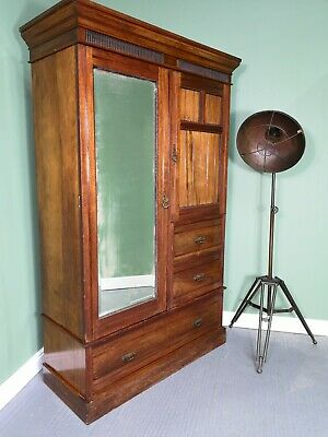 An Antique Edwardian Walnut Wardrobe Compactum ~Delivery Available~