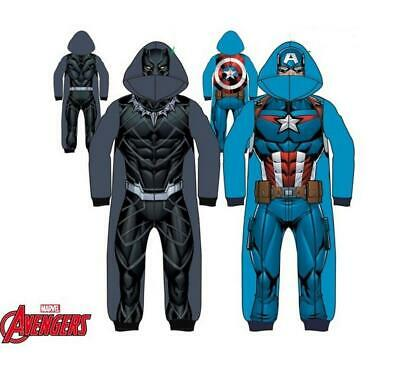Boys Kids Marvel All-in-one Sleepwear Black Panther Captain America Pajama