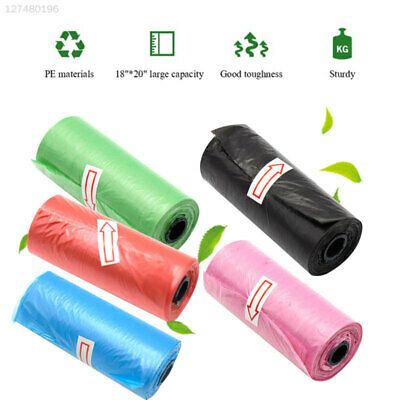 7F6A Black Plastic Garbage Bags Rubbish House Tear-Resistant Disposable Bag
