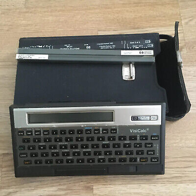 Vintage VisiCalc hp-75C Calculator Computer 1982 With Case