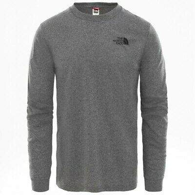 The North Face Simple Dome Maglia Maniche Lunghe Uomo, TNF Medium Grey Heather