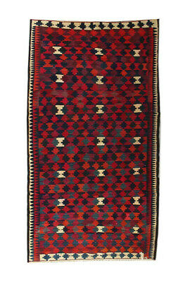 6x13 Vintage Oriental Wool Handmade Traditional Carpet Geometric Area Kilim Rug
