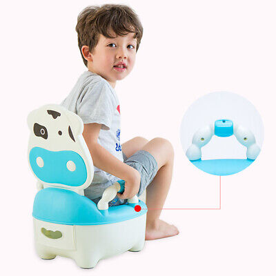 Baby Toilet Trainer Kids Seat Fun Animal Shape Potty Training Chair Easy Clean
