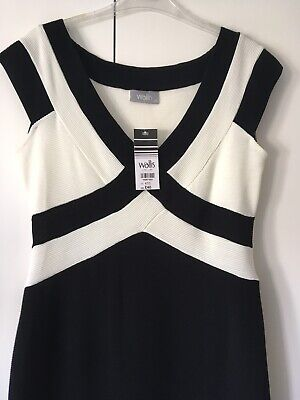 Wallis Black And White Dress Size 12 Brand New With Tags