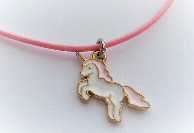 Pink & White Unicorn Pendant / Necklace - Great Girls Jewellery Gift Packaged
