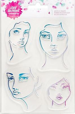 Jane Davenport Clear Stamps ~Four Faces Code 376686