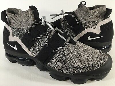 Nike Air Vapormax Flyknit Utility Moon Particle Black Grey White Mens Size 10
