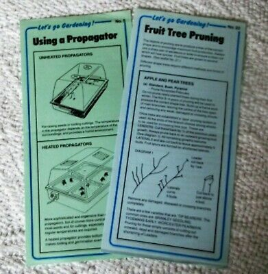 "VINTAGE 1990's ""LET'S GO GARDENING"" leaflets x 2 by HORTICULTURAL TRADES ASSOC."