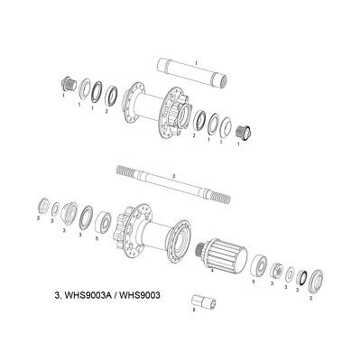 SRAM Wheel Spare Parts Kit Axle Assembly X-9 V2 Rear