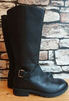 Marks and Spencer black knee high boots girls uk size 2 *excellent*