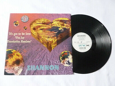 """Shannon ~ It's Got To Be Love ~ 1995 12"""" Euro-House Vinyl Single ~ Plays Well"""