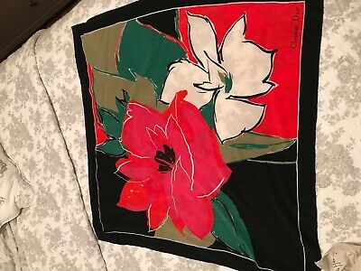 Beautiful vintage Christian Dior large silk scarf