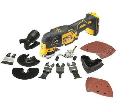 DEWALT DCS355N XR Brushless Multi-Tool 18V Bare Unit with 35 accessories