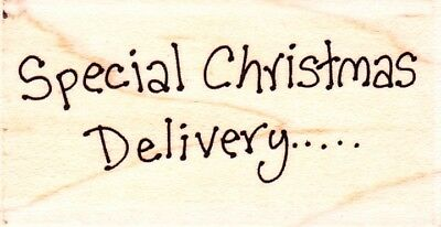 CHRISTMAS DELIVERY - Wood Mounted Rubber Stamp - Lindsay Mason Designs
