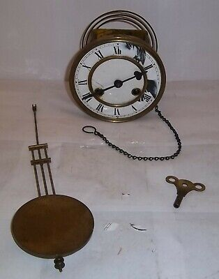 Vienna Regulator Clock Movement Pendulum and Key Spares Repair
