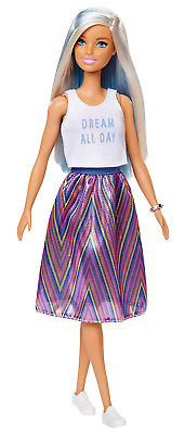 Barbie Fashionistas Doll with Long Blue and Platinum Blonde Hair Wearing Dream