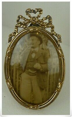 Stunning Antique French Louis Xvi Style Photo Frame Bronze