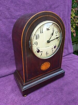 Vintage Antique Rare Gilbert Edwardian Chiming Mantel Clock c1910 Working