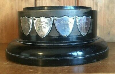 vintage 1949 Large ebonised wooden trophy base, trophy base, trophies